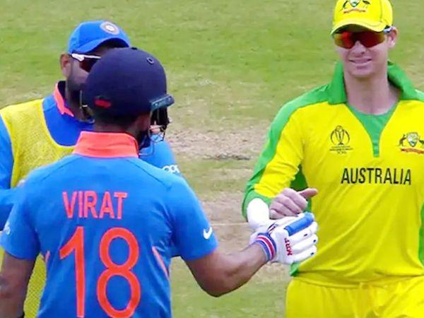 स्मिथ पर 2018 में बॉल टेम्परिंग को लेकर बैन लगा था। इसके बाद उन्होंने 2019 में वापसी की और वनडे वर्ल्ड कप में ऑस्ट्रेलिया से खेले। वर्ल्ड कप में भारत के खिलाफ मैच के दौरान कोहली और स्मिथ।