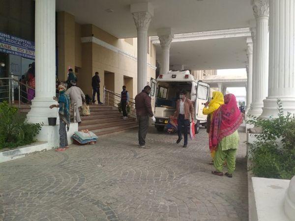 RUHS अस्पताल फाइल फोटो। - Dainik Bhaskar