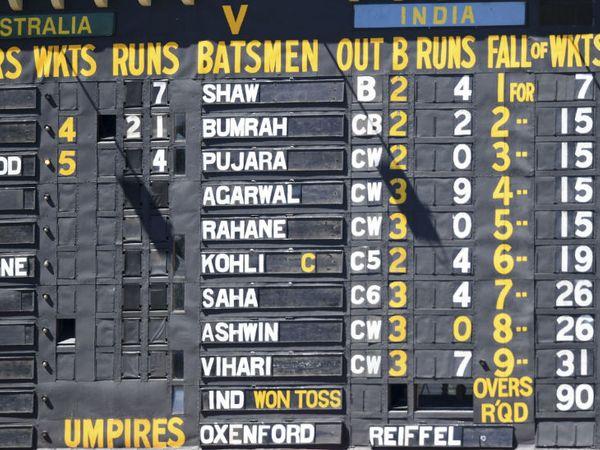 भारत का कोई भी बल्लेबाज 10 रन नहीं बना सका।