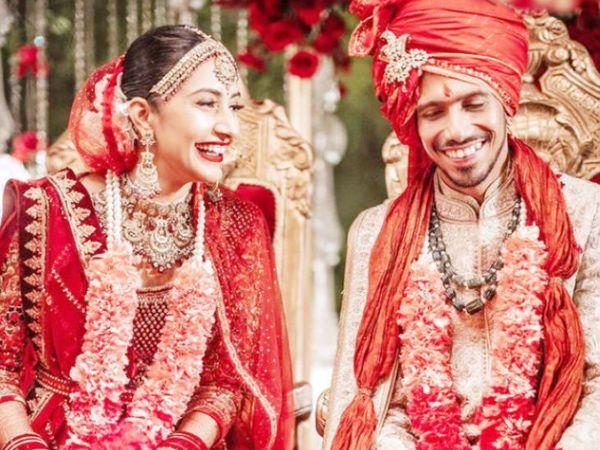 युजवेंद्र चहल ने सोशल मीडिया पर शादी की तस्वीर शेयर की। - Dainik Bhaskar