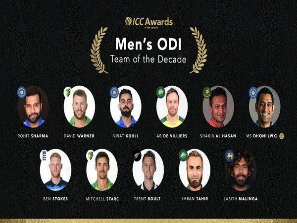 ICC ने वनडे टीम ऑफ द डेकेड का कप्तान भी महेंद्र सिंह धोनी को घोषित किया है।