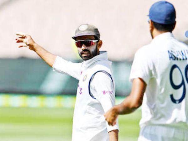 रहाणे ने दूसरे टेस्ट की पहली पारी में मार्नस लाबुशेन, स्टीव स्मिथ और ट्रेविस हेड के लिए एक रणनीति के तहत फील्डर्स तैनात किए। - Dainik Bhaskar