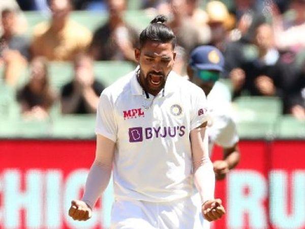 मोहम्मद सिराज ने ऑस्ट्रेलिया के खिलाफ डेब्यू मैच में कुल 5 विकेट लिए। उन्होंने पहली पारी में 2 और दूसरी पारी में 3 विकेट लिए। - Dainik Bhaskar