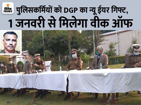 थानों में पदस्थापित पुलिसकर्मियों को ही सप्ताह में एक दिन की छुट्टी दी जाएगी।(फाइल) - Dainik Bhaskar