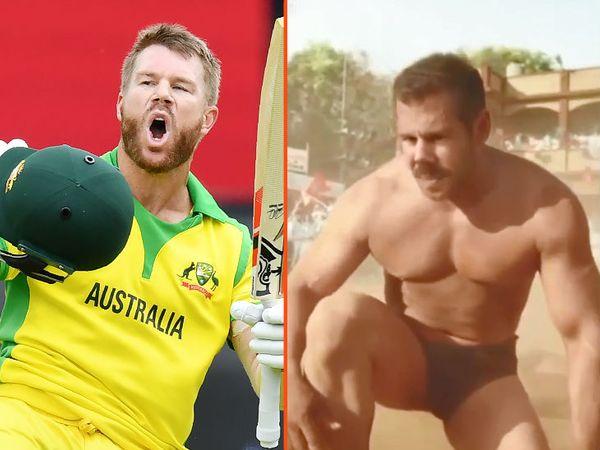 ऑस्ट्रेलियाई क्रिकेटर डेविड वॉर्नर ने हाल ही में बॉलीवुड फिल्म 'सुल्तान' का ट्रेलर एडिट कर सलमान खान के चेहरे की जगह अपना चेहरा लगाकर वीडियो शेयर किया था। - Dainik Bhaskar