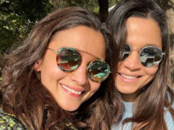 आलिया और बहन शाहीन भट्ट।