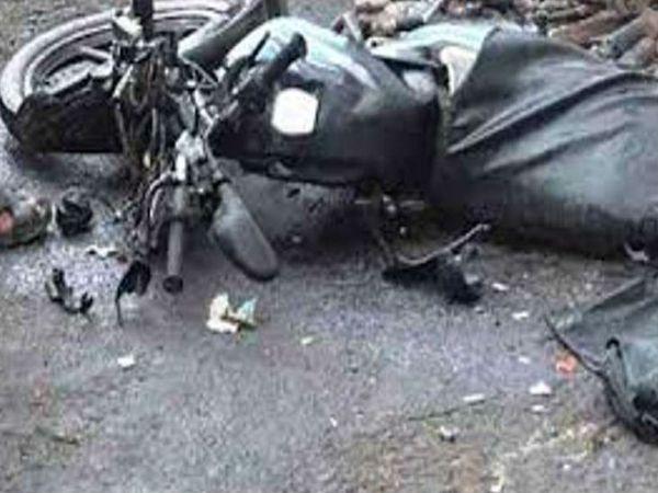 उजरौड के पास बाइक को लोडिंग वाहन ने टक्कर मार दी।