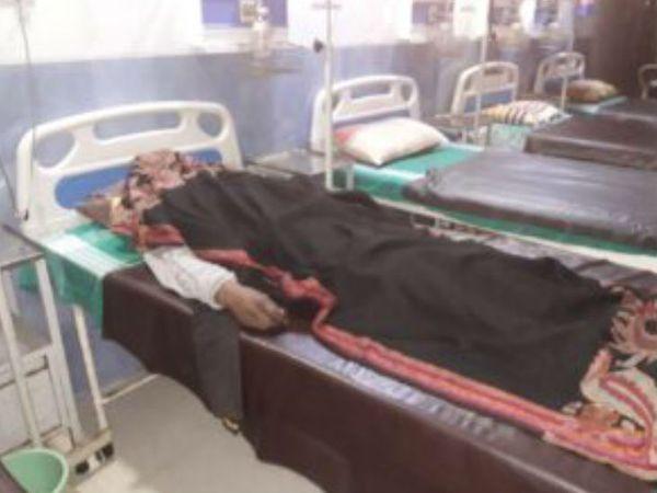 अस्पताल में पवन को चिकित्सकों ने घोषित किया मृत - Dainik Bhaskar