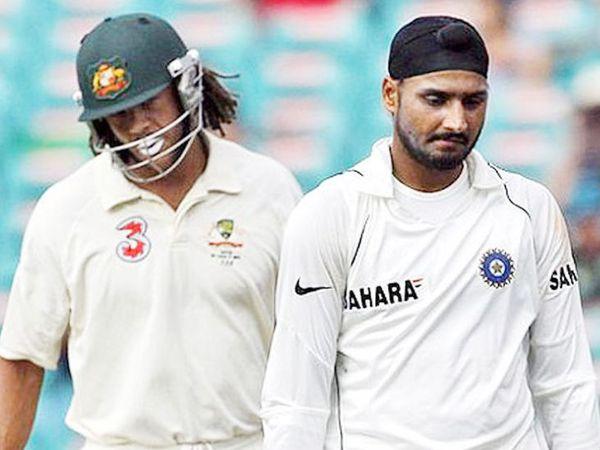 2008 में सिडनी टेस्ट में हरभजन सिंह और एंड्रयू साइमंड्स की भिड़ंत भी हुई थी। साइमंड्स ने हरभजन पर उन्हें बंदर कहने का आरोप लगाया था। - Dainik Bhaskar