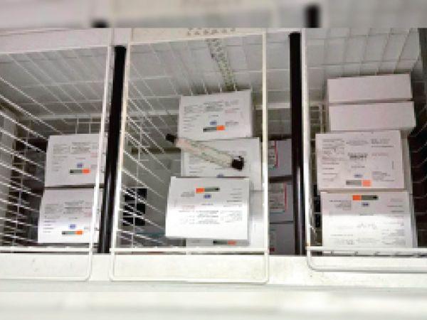 फ्रिजर में इस तरह रखी जाएगी वैक्सीन। - Dainik Bhaskar