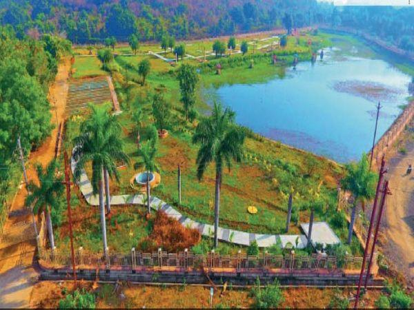 इस पार्क में उतरा है भगवान बुद्ध का जीवन दर्शन - Dainik Bhaskar