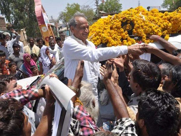राजस्थान के मुख्यमंत्री अशोक गहलोत। - Dainik Bhaskar
