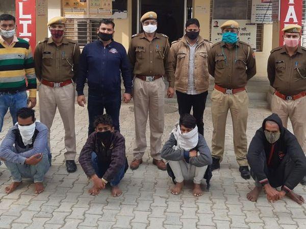 पुलिस ने हत्या का खुलासा करते हुए भाई और सुपारी किलर्स को गिरफ्तार किया है। - Dainik Bhaskar
