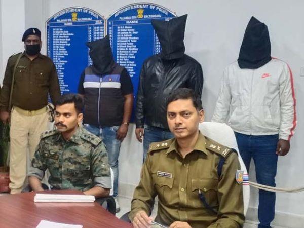 एसपी संजीव कुमार के नेतृत्व में बदमाशों के खिलाफ कार्रवाई की गई। - Dainik Bhaskar