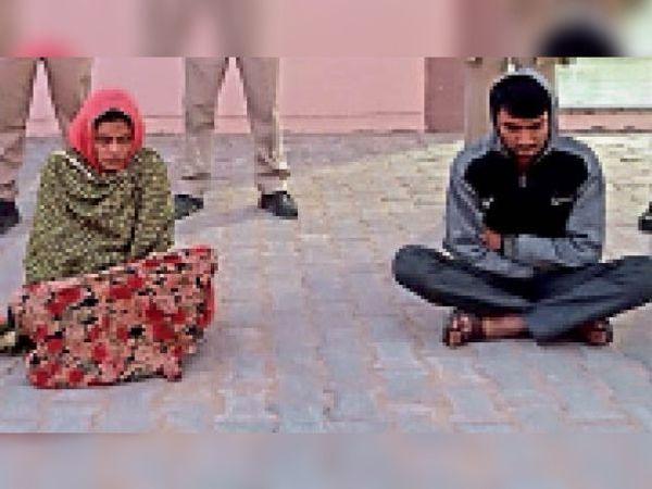 मूंडवा में हुई पुजारी की हत्या के आरोप में पुलिस के हत्थे चढ़े मामी-नाणदा। - Dainik Bhaskar