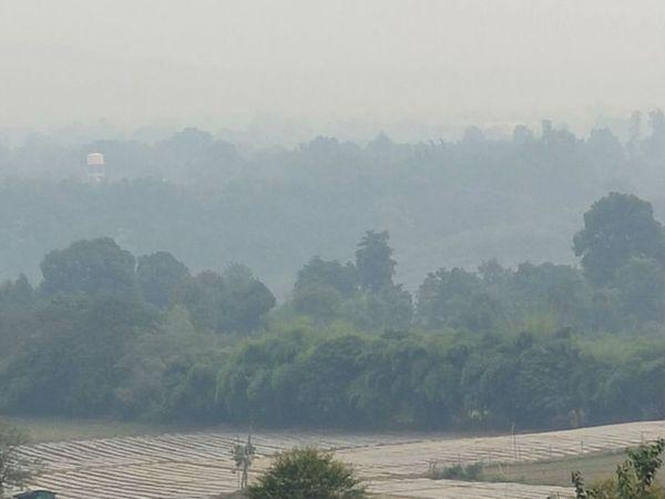 तिलवारा घाट पर छाया रहा सुबह कोहरा - Dainik Bhaskar