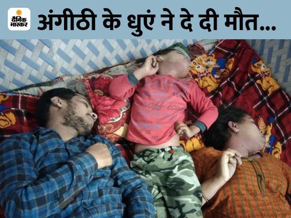 फरीदाबाद के सेक्टर-58 थाने की राजीव कॉलोनी में किराये के मकान में मृत मिला बिहार के अमन कुमार का परिवार। - Dainik Bhaskar