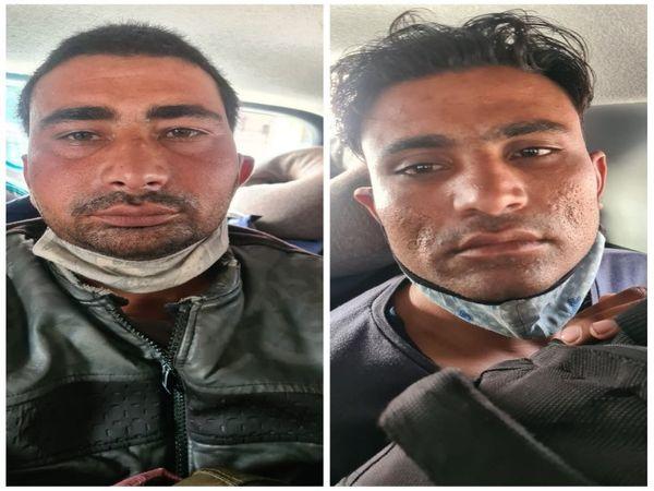 तस्वीर यूपी से गिरफ्तार चोरों की है। रायपुर में पुलिस को सीसीटीवी के जरिए इनके हुलिए के बारे में पता चला फिर मुखबिरों से मिली जानकारी के आधार पर इनके खिलाफ कार्रवाई की गई। - Dainik Bhaskar