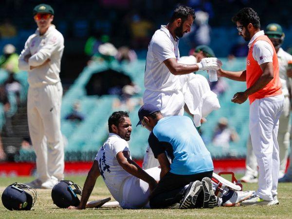 हनुमा विहारी ने सिडनी में चोटिल होने के बावजूद 286 मिनट क्रीज पर बिताए और आर अश्विन के साथ मिलकर टीम इंडिया की हार टाल दी थी। -फाइल फोटो - Dainik Bhaskar