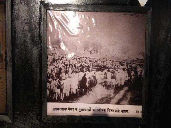 जब सागरताल पर मेला लगता था तब पारितोषक वितरण करते समय का चित्र, यह चित्र सन 1910 का बताया जाता है - Dainik Bhaskar