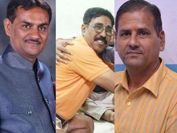 राशन घोटाले में गरीबों का हक मारने के आरोपी भरत दवे, प्रमोद दहीगुडे और श्याम दवे। - Dainik Bhaskar