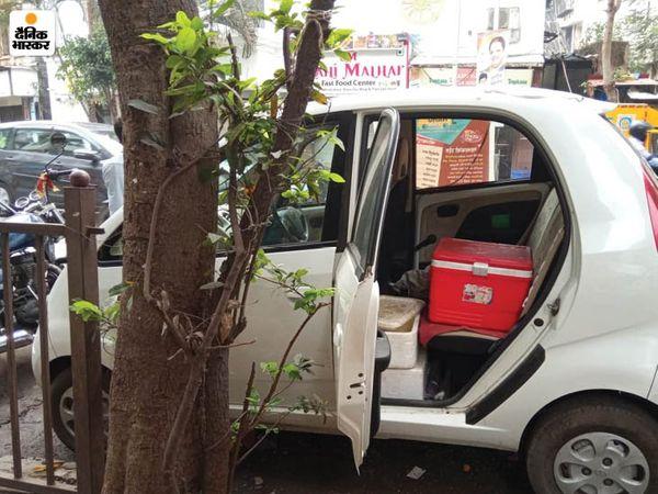 लॉकडाउन में पंकज को अपना रेस्टोरेंट बंद करना पड़ा। इसके बाद उन्होंने अपना बिजनेस नैनो कार में शिफ्ट कर दिया। - Dainik Bhaskar