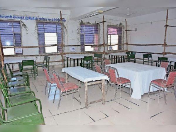 झालावाड़. राजकीय पॉलिटेक्निक कॉलेज में मतगणना की तैयारी के तहत की गई व्यवस्था। - Dainik Bhaskar