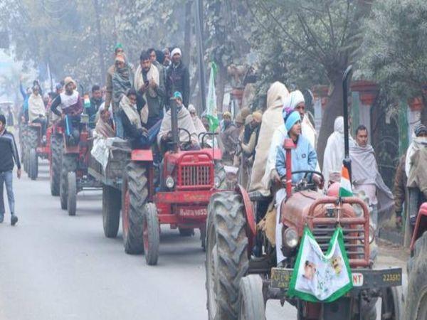 किसान महापंचायत में शामिल होने के लिए किसान भारी संख्या में सड़कों पर निकले जिससे 26 जनवरी की ट्रैक्टर परेड जैसा नजारा लोगों को दिखाई दिया।