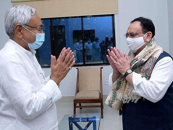BJP के बिहार से लेकर दिल्ली तक के नेता कैबिनेट विस्तार मसले को लेकर CM नीतीश से मिल चुके हैं। - फाइल फोटो - Dainik Bhaskar