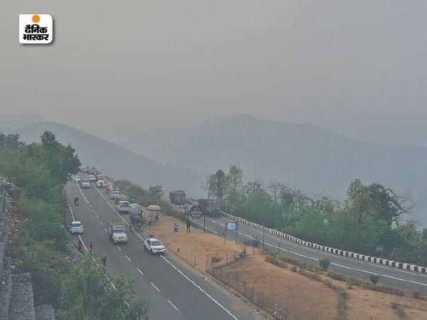 रांची के पतरातू की पहाड़ियों से मौसम का मनमोहक दृश्य।