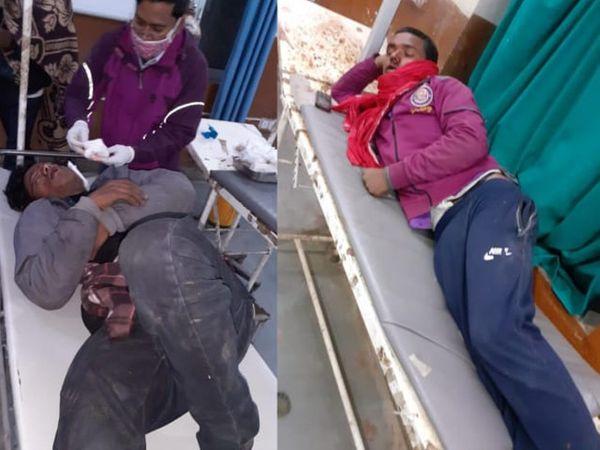 घायलों को अस्पताल में भर्ती करवाया गया।