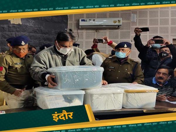 पुलिस के अनुसार 70 किलो ड्रग्स बरामद हुई, जिसकी कीमत 70 करोड़ के करीब है। फाइल फोटो - Dainik Bhaskar