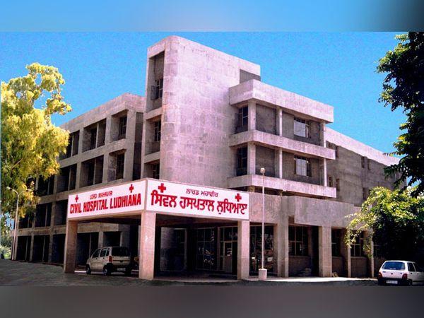 लुधियाना का सिविल अस्पताल, जहां पुलिस वाले की मौत हो गई। - Dainik Bhaskar