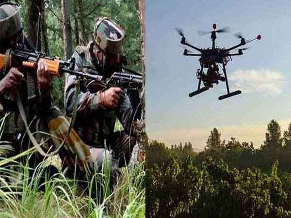 गुरदासपुर में दो जगह पाकिस्तानी ड्रोन देखे जाने के बाद सीमा सुरक्षा बल ने फायरिंग करके लौटा दिया। इसके बाद अब सर्च ऑपरेशन जारी है। -फाइल फोटो - Dainik Bhaskar