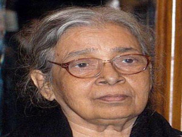 महाश्वेता देवी जिन्होंने प्रसिद्ध 'हज़ार चौरासी की मां' नॉवेल लिखा। - Dainik Bhaskar