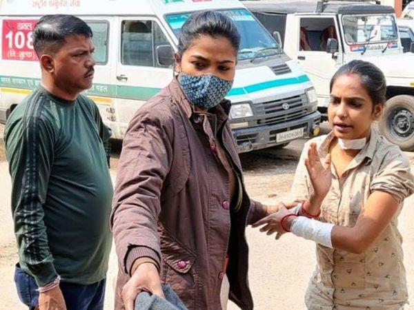 MGM में इलाज के बाद पुलिस चटनी डॉन उर्फ प्रिया सिंह को अपने साथ वापस ले गई। - Dainik Bhaskar