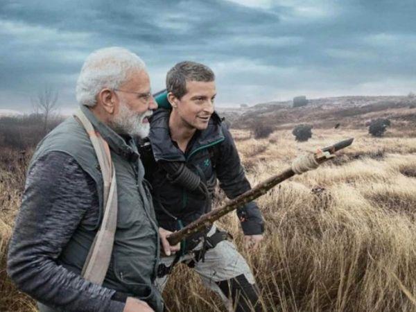 उत्तराखंड के जिम कॉर्बेट नेशनल पार्क में पीएम नरेंद्र मोदी के साथ नजर आए थे बेयर ग्रिल्स।