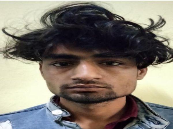 शिवम सिंह, जिसकी बाइक के बैग में गांजा मिला। - Dainik Bhaskar