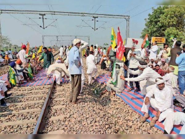 जयपुर लाइन... किसानों ने बजाए ढोल-नगाड़े - Dainik Bhaskar
