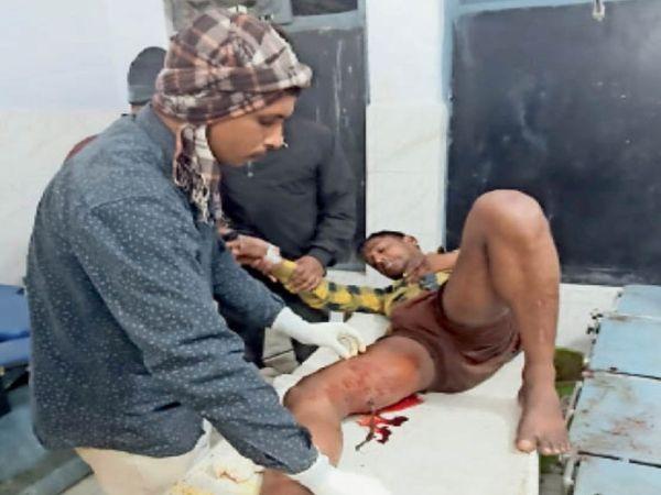 छपरा सदर अस्पताल मेें भर्ती घायल। - Dainik Bhaskar