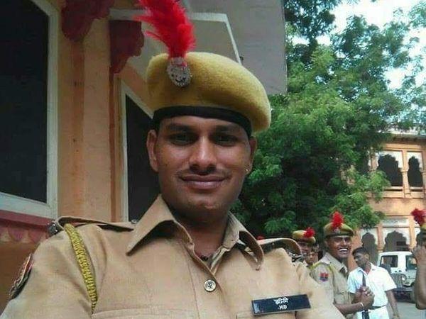 सांगोद इलाके में सोमवार को एक कार दुघर्टना में कोटा पुलिस के कांस्टेबल की दर्दनाक मौत हो गई - Dainik Bhaskar