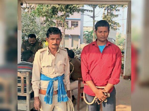 गिरफ्तार प्रांजल कुमार। - Dainik Bhaskar