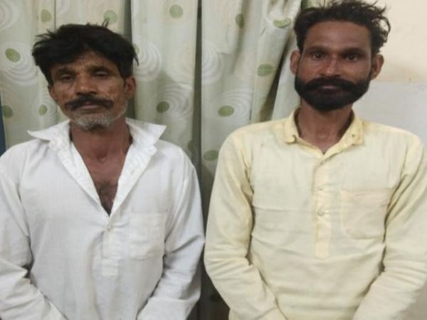 पुलिस गिरफ्त में आरोपी जसविंद्रसिंह और पप्पूसिंह। - Dainik Bhaskar