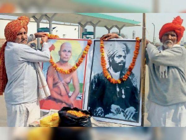 कैथल | स. अजीत सिंह की जयंती मनाते खेती बचाओ-देश बचाओ संघर्ष समिति के िकसान। - Dainik Bhaskar