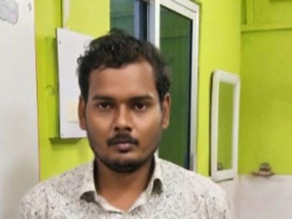 ओडिशा से पकड़ाया गया आरोपी ठग। - Dainik Bhaskar
