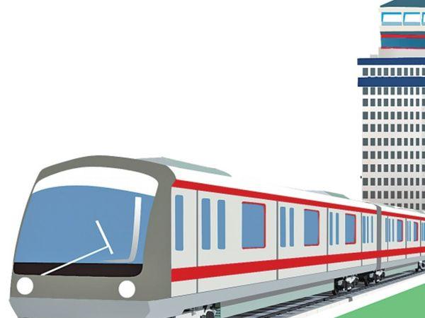 मेट्रो को बिजली सप्लाई देने के लिए 222 करोड़ की लागत से दो जगह पर ग्रिड सब स्टेशन बनेगा। - Dainik Bhaskar