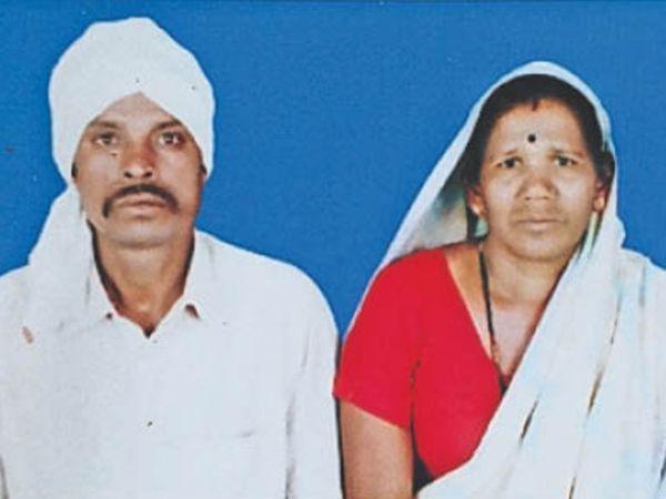 आठनेर। मृतक पति और घायल पार्वती जिसका अस्पताल में इलाज जारी है। - Dainik Bhaskar