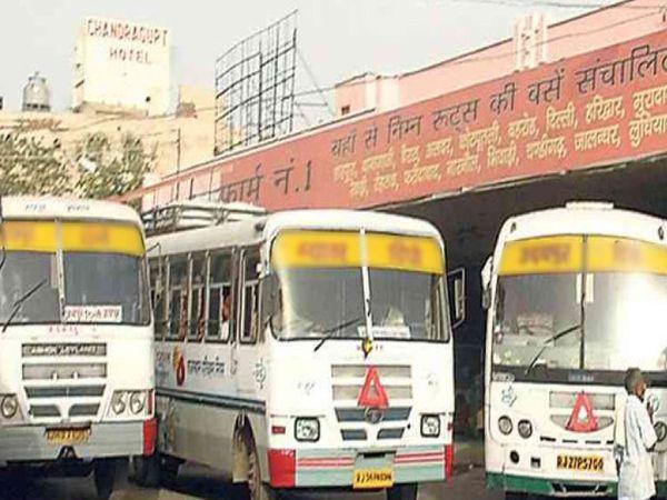 25 फरवरी को सभी बस ऑपरेटरों की मीटिंग बुलाई गई है जिसमें बसों के पहिए जाम करने की घोषणा की सकती है। - Dainik Bhaskar