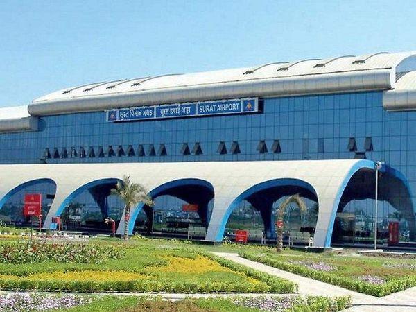 सूरत एयरपोर्ट - Dainik Bhaskar