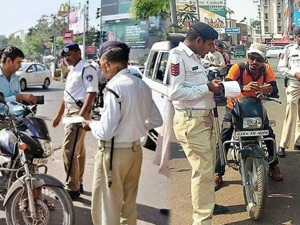खतरनाक तरीके से वाहन चलाने- प्रथम 1000, फिर 10000 - Dainik Bhaskar